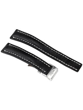Breitling 18MM Black Leather Strap 415X-A16D.1