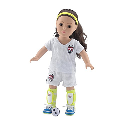 18 Inch Doll Clothes | Team USA-Inspired 7 Piece Soccer Uniform, Including Shirt and... by Emily Rose Doll Clothes