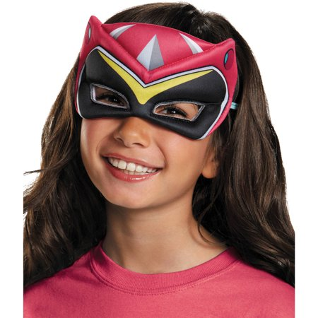 Pink Ranger Dino Charge Puffy Mask Child Halloween Accessory - Puffy Dresses For Halloween