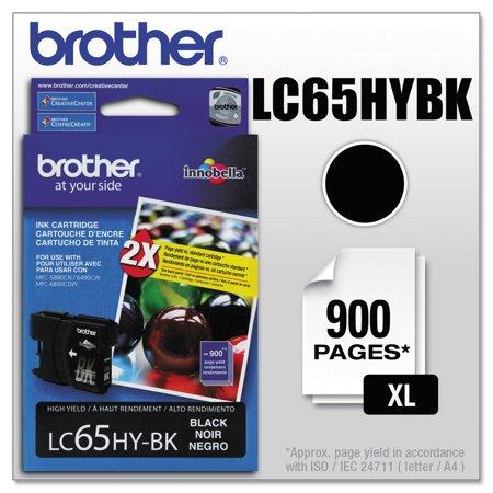 Brother LC65HYBK Innobella High-Yield Ink, Black ()