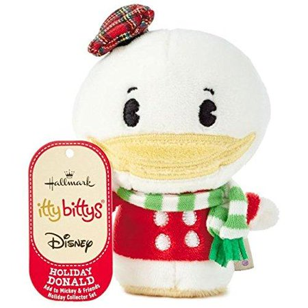 Hallmark Disney Christmas Holiday Donald Duck Itty Bittys Plush New with Tags