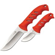 Elk Ridge ER-532OR Fixed Blade Knife Set (9.5 and 6.25-Inch Overall) Multi-Colored