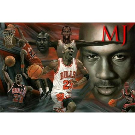 Michael Jordan Poster Amazing Collage b New 24x36
