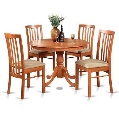 East West Furniture 5-piece Dining Table and 4 Kitchen Chairs by Overstock