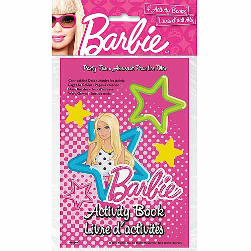 Barbie Activity Books, 4ct