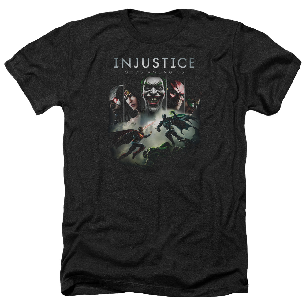 Injustice Gods Among Us Key Art Mens Heather Shirt