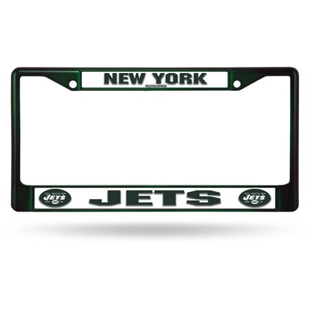 Rico Industries NFL Color License Plate Frame, New York Jets (Decorative License Plate New York)