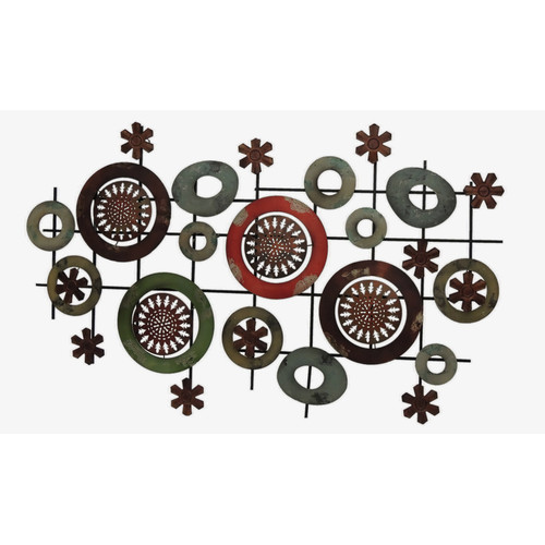 Gallerie D cor Geo Circles Metal Wall Art
