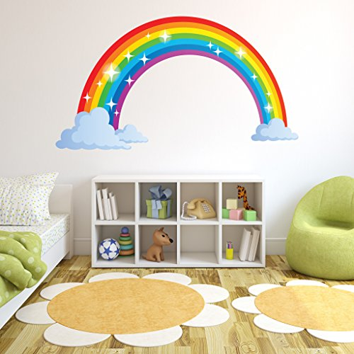 Sparkling Rainbow Wall Decal - Wall Sticker, Vinyl Wall Art, Home Decor, Wall Mural - SD3065 - 46x26