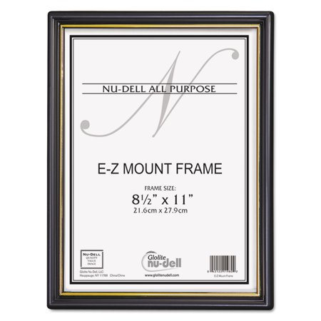 nudell ez mount document frame wtrim accent plastic 8 1
