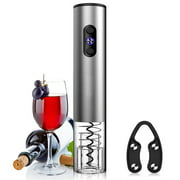 Electric Wine Bottle Opener, Automatic Corkscrew (Silver)