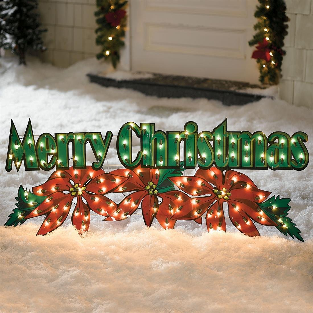 holiday living 23 ft merry christmas outdoor decoration walmartcom - Hologram Outdoor Christmas Decorations