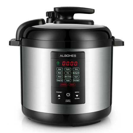Best Choice Products 12L 1000W Multifunctional Stainless Steel Non-Stick Electric Pressure Cooker w/ LED Display Screen, 10 Settings, 3 Modes -