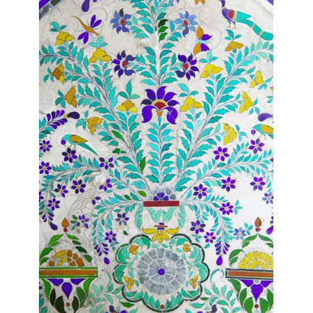 - Decorated Tile Painting at City Palace, Udaipur, Rajasthan, India Print Wall Art By Keren Su