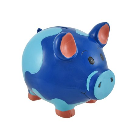 Blue Piggy Coin Savings Bank 6 In