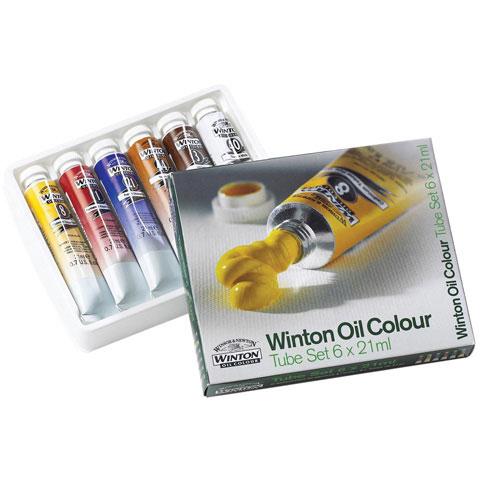 Winsor & Newton Winton Oil Color Intro Set - 21mL per color - 6 colors