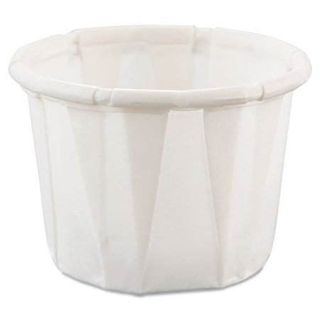 SOLO Cup Company Treated Paper Souffle Portion Cups, 1/2 oz., White, 250 per Bag, 20 Sleeves of 250 Cups, 5000 per Case - Souffle Cups