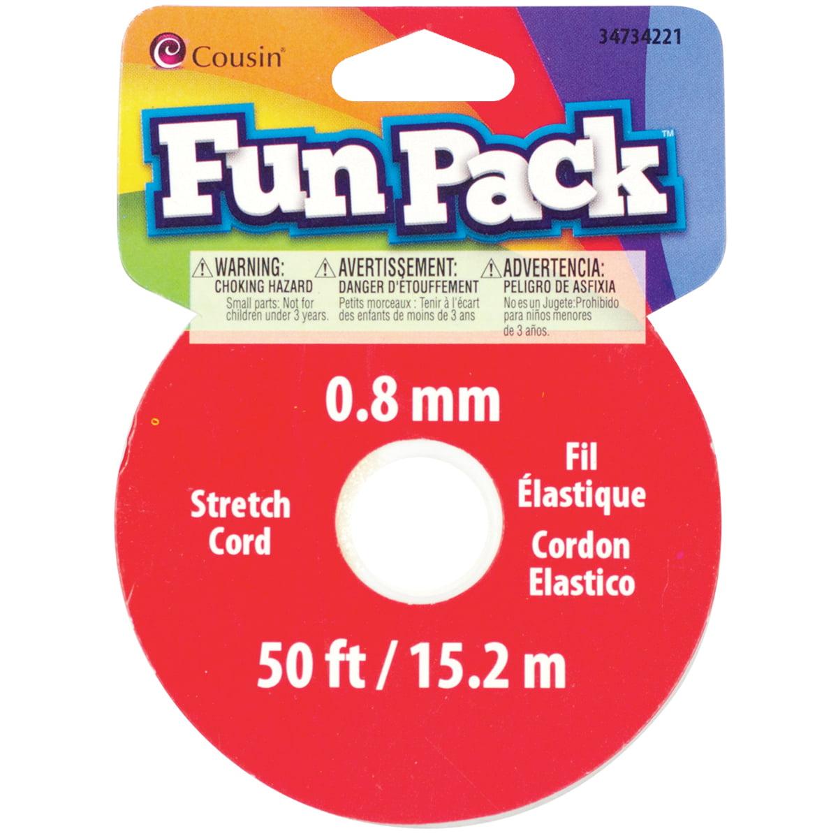 Fun Pack Stretch Cord Spool .8mmX50'-Clear