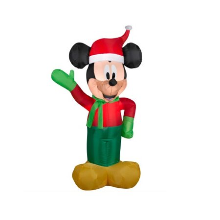northlight seasonal inflatable disney led lighted winter mickey mouse christmas yard art decoration - Disney Christmas Yard Decorations