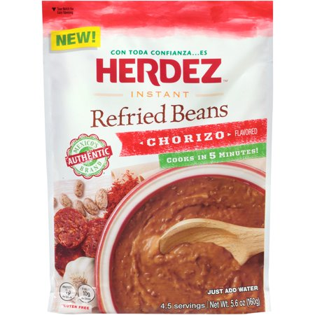 Herdez Instant Chorizo Flavored Refried Beans, 5.6 Oz 49 Assorted Flavors Beans