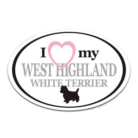 West Highland White Terrier I Love My Dog Oval 3