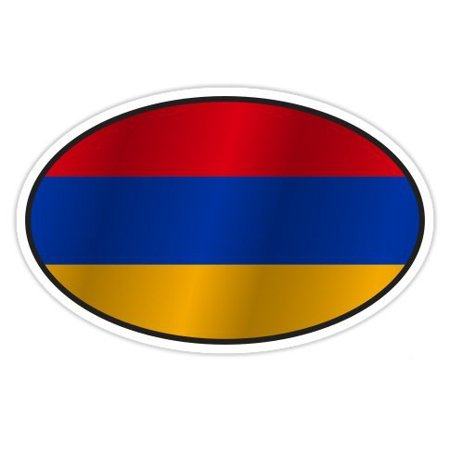 Armenia Flag Stickers (Armenia Flag Oval - Vinyl Sticker Waterproof Decal Sticker 5