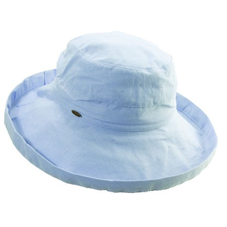 Scala Collezione Women's Cotton Big Brim Hat BLUE O/S