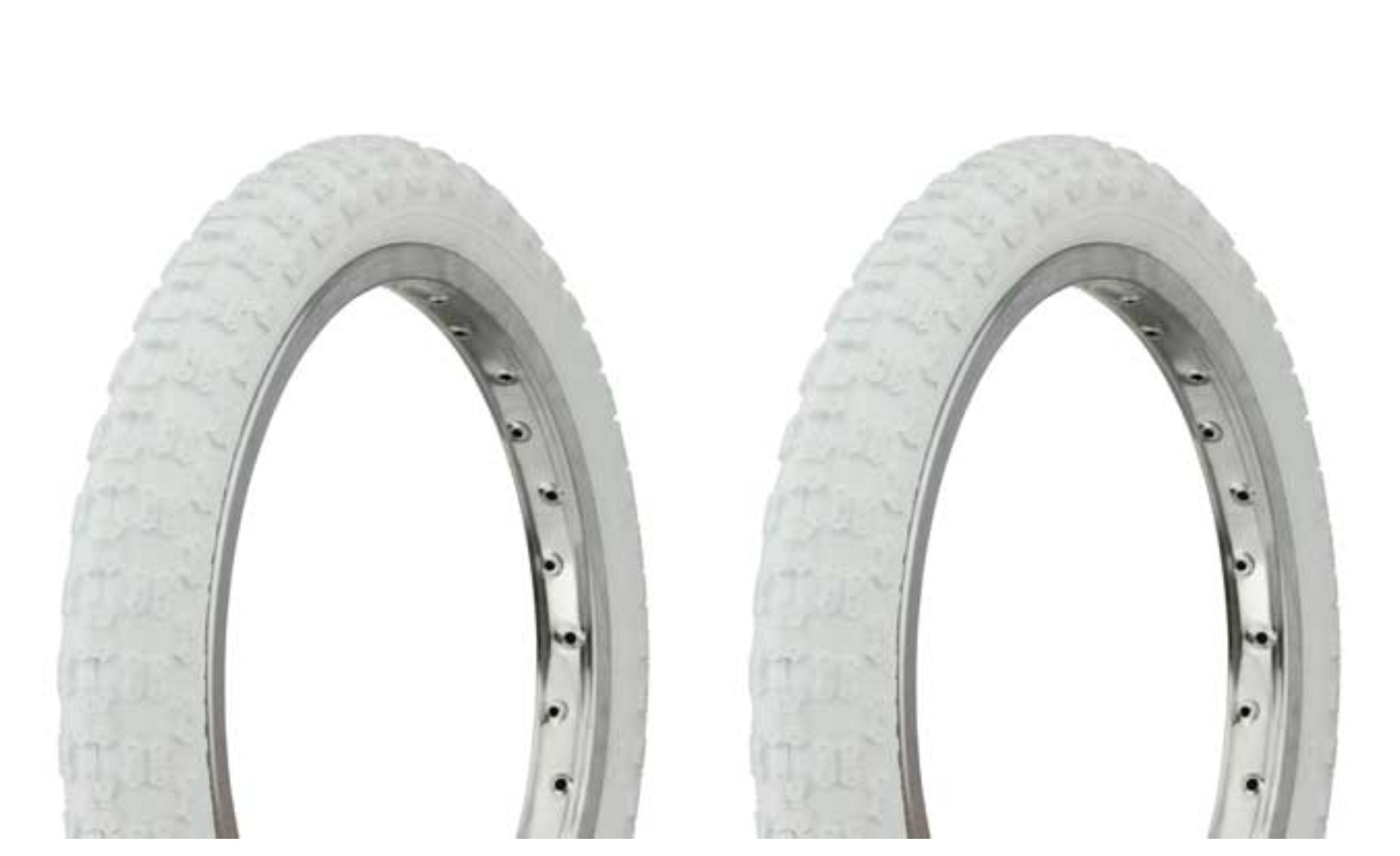 "Bicycle 2 Tires 2 Tubes Cream 14/""  x 2.125 BMX Lowrider Cruiser Bikes"