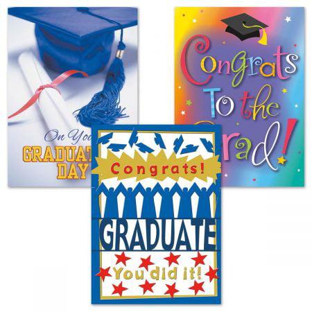 Graduation Greeting Cards - Set of 6 (3 designs), Large 5