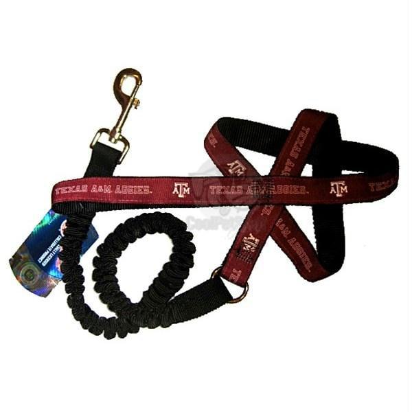 Texas A&M Aggies Bungee Ribbon Pet Leash