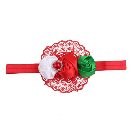 Huppin's Hot Sale Christmas Decoration Headwear Girls Infant Flower Hair Band Headband Headdress Accessories Novelty Gadget - Christmas Head Wear