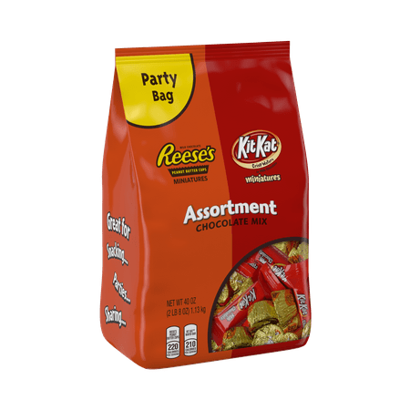 Reese's Kit Kat, Chocolate Candy Miniatures Assortment, 40 Oz