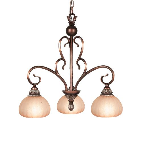 "Woodbridge Lighting 12130-CGL Liezel 3 Light 22"" Wide Single Tier Chandelier"