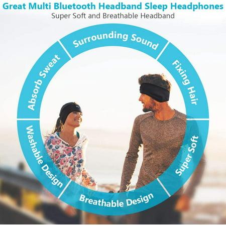 Sleep Headphones Bluetooth Headband Upgrage Soft Sleeping Wireless Music Sport Headbands Long Time Play Sleeping Walmart Canada