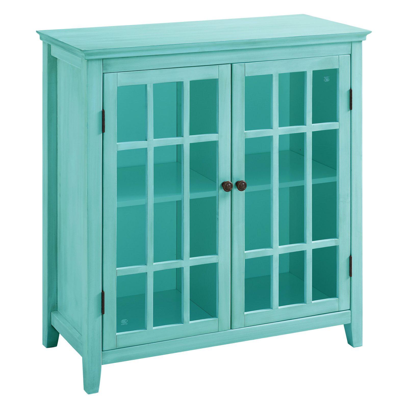 Linon Home Decor Largo Antique Double Door Cabinet, Multiple Colors
