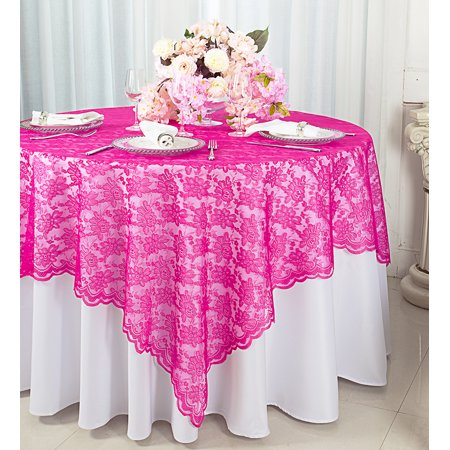 Wedding Linens Inc 72 In X Lace Table Overlays Tablecloths Square Overlay Toppers For Decorations