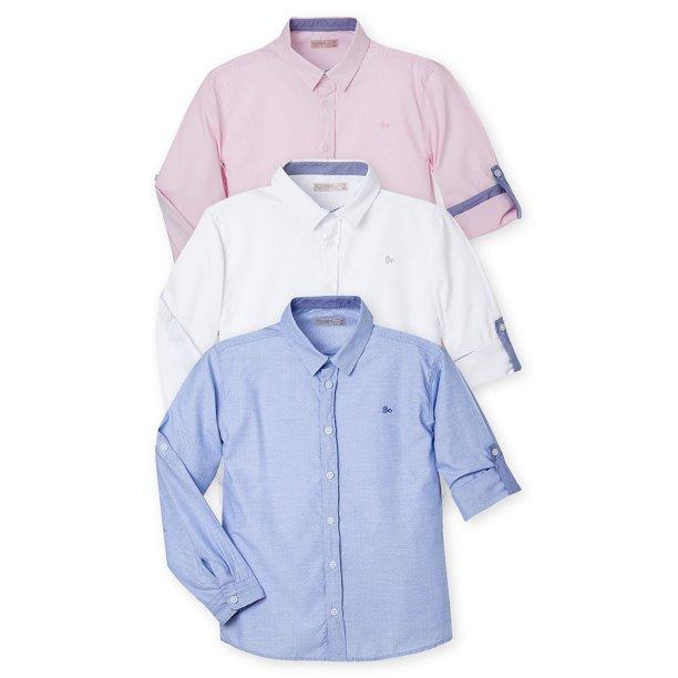 Offcorss Offcorss Long Sleeve Button Down Shirts For Kids Camisas Para Ninos Walmart Com Walmart Com