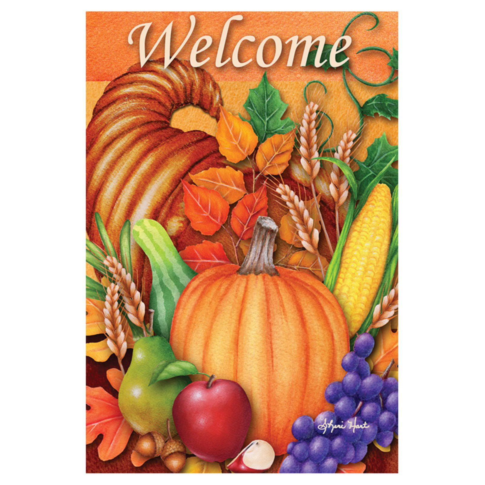Toland Home Garden Autumn Blessing Flag