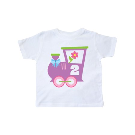 2nd Birthday Train 2 Year Old Girl Toddler T Shirt