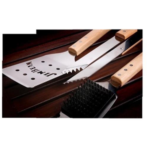 Jim Beam JB0148 3-Piece Wood Handle BBQ Set