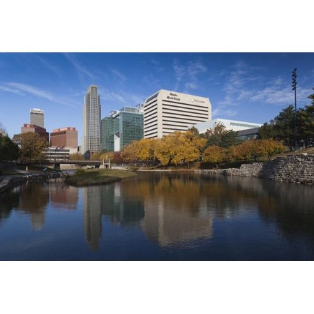 Gene Leahy Mall Skyline, Omaha, Nebraska, USA Print Wall Art By Walter (Malls In Omaha Nebraska)