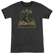 Sun Records Sun Records Rooster Mens Adult Heather Ringer Shirt