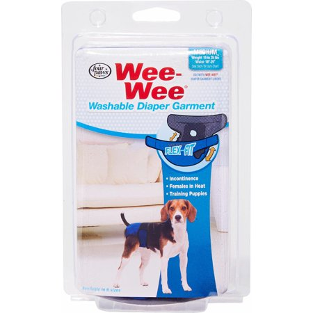 Four Paws Products Ltd-Wee Wee Washable Diaper Garment Medium ()