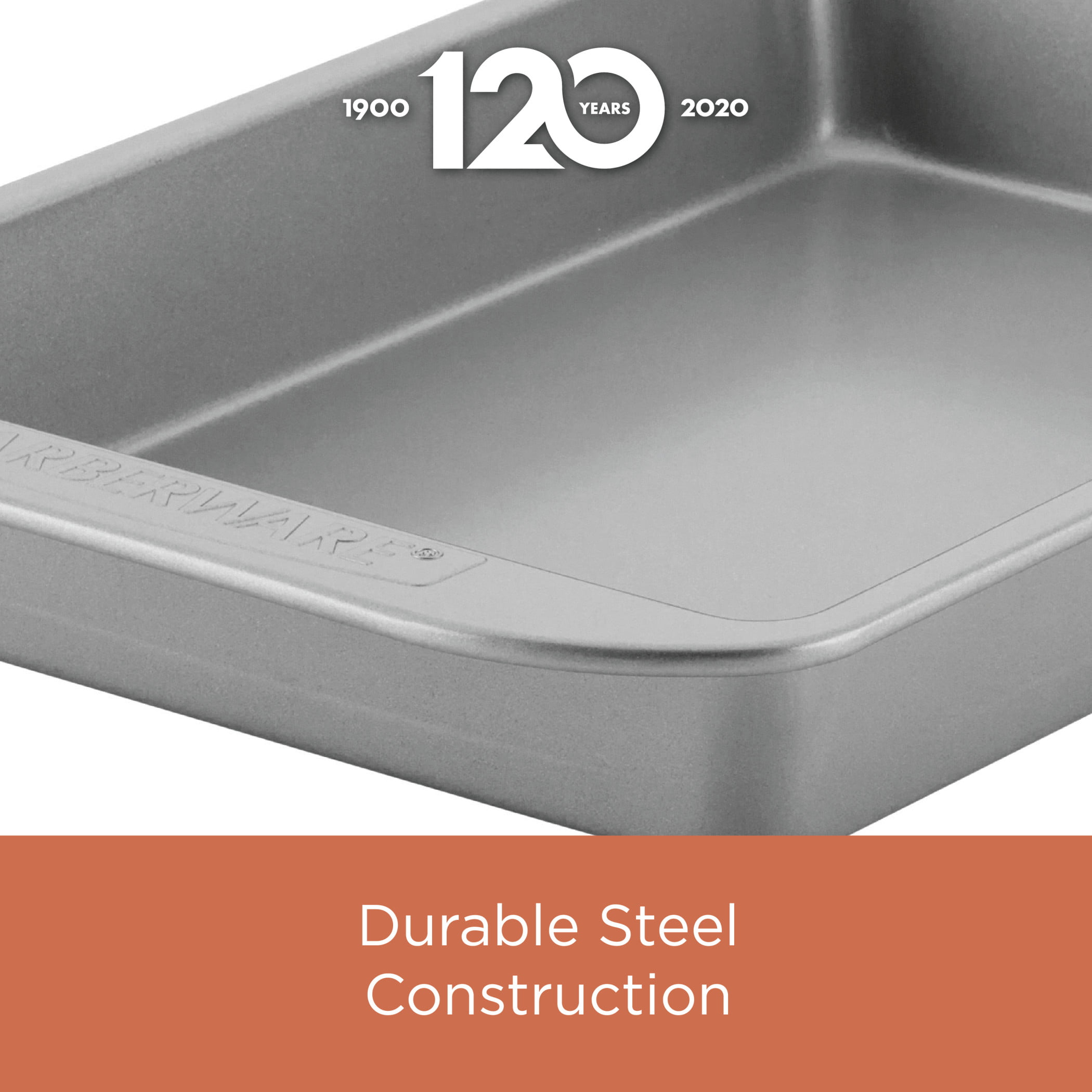 Gray Farberware 48154 Specialty Nonstick Bakeware Springform//Fluted Mold Pan 8.25 Inch Round