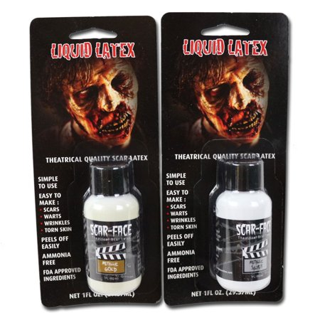 SCAR FACE METALLIC LIQUID LATEX - Halloween Scars With Liquid Latex