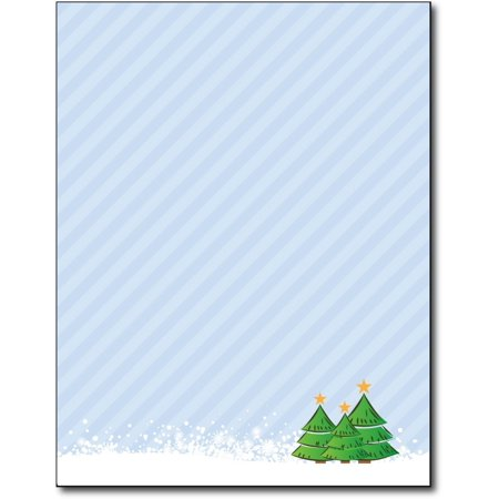 - 3 Trees Holiday Stationery Paper - 80 Sheets
