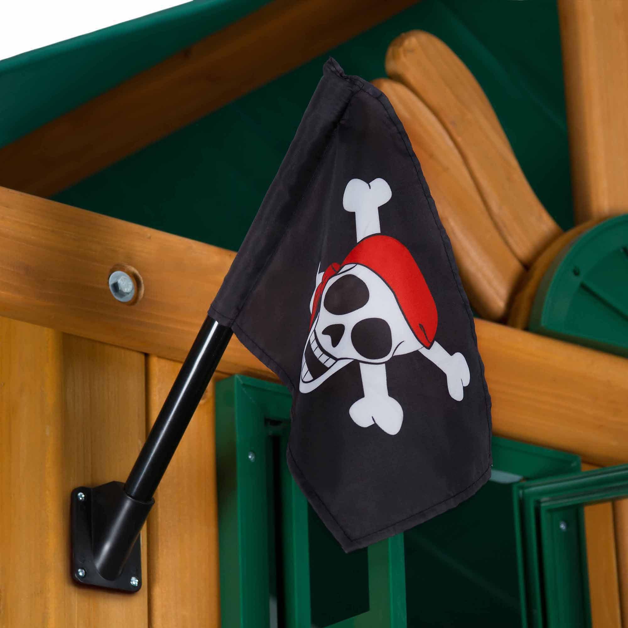 Gorilla Playsets Pirate Flag, Black