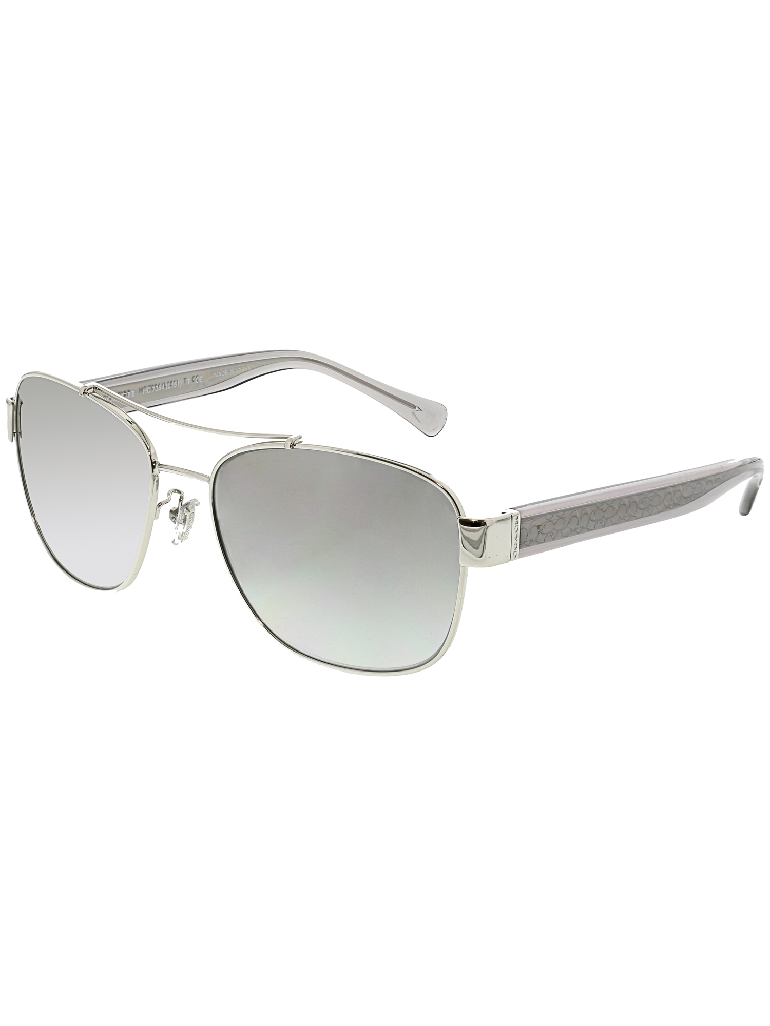 dff3989332be ... discount code for coach womens hc7064 926411 56 silver aviator  sunglasses 3e0ef 32c0d