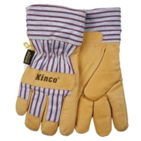 Pigskin Knit (Kinco 1927KWXXL Work Gloves, Grain Pigskin Palm, Material Back, Knit Wrist, Heatkeep Insulated Lining, X X)
