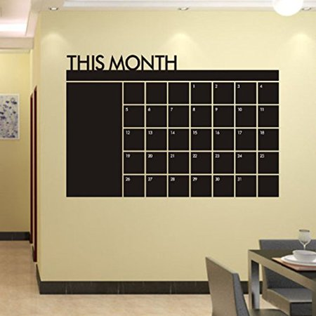 Wall Sticker,Ikevan Month Plan Calendar Chalkboard MEMO Blackboard Vinyl Wall Sticker Office Classroom Home Decor Gifts 60x92cm